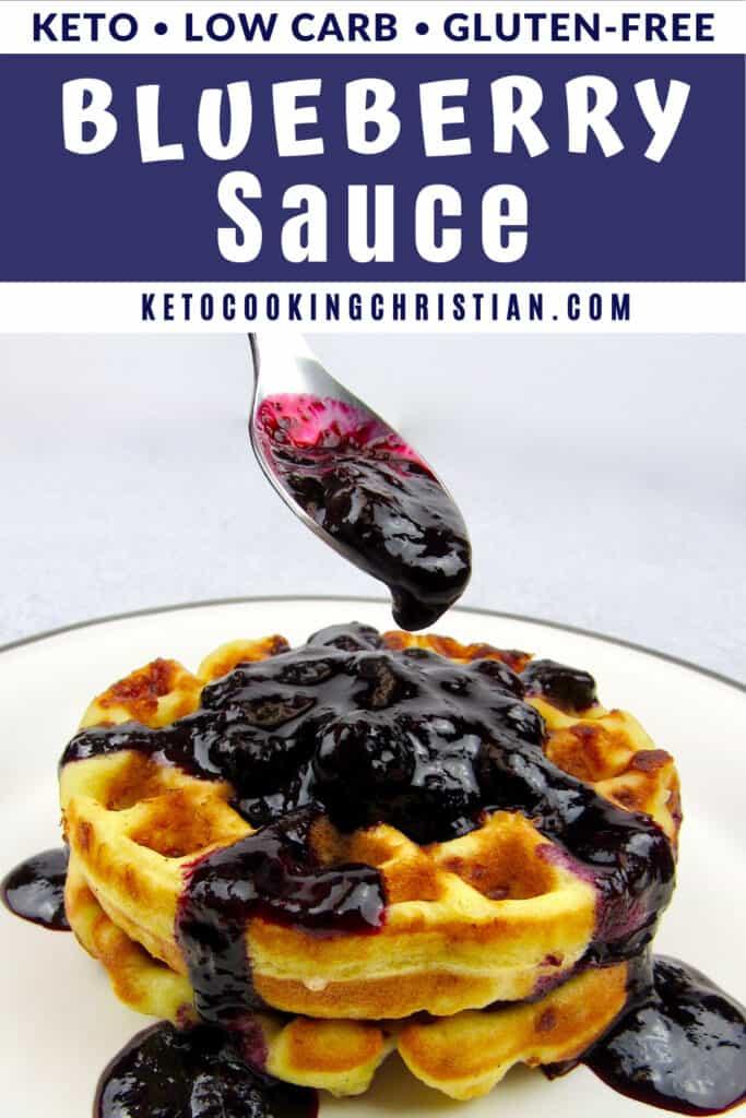 PIN Keto Blueberry Sauce