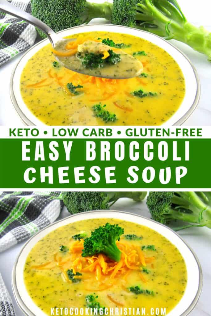 PIN Easy Keto Broccoli Cheddar Soup