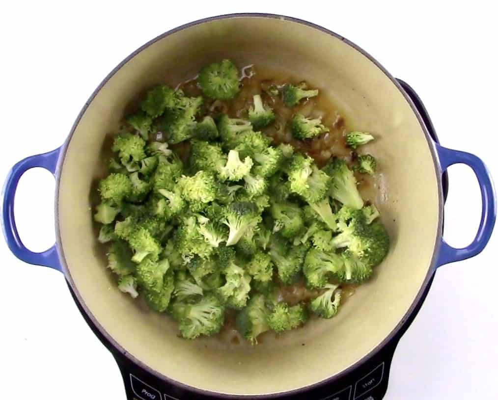 broccoli in large pot