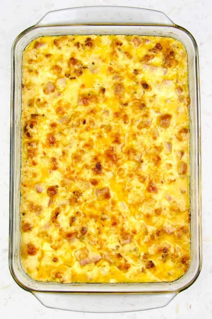 baked Roasted Cauliflower and Ham Casserole