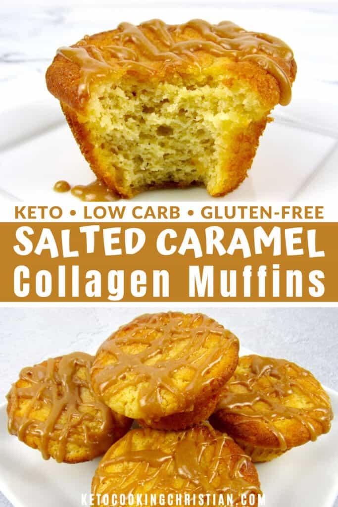 PIN Salted Caramel Collagen Muffins - Keto/Gluten-Free