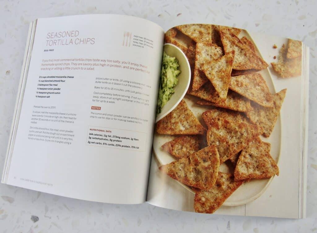 5 Ingredient Keto cookbook opened
