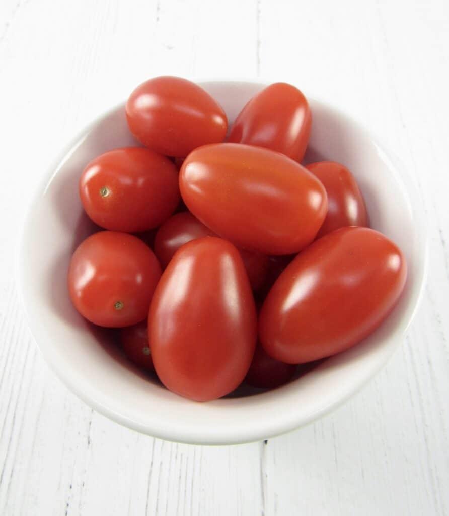 bowl of grape tomatoes