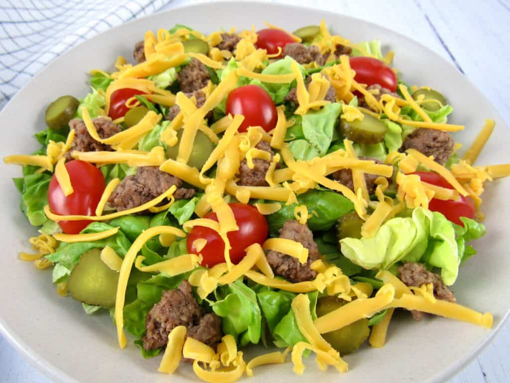 cheeseburger salad without dressing