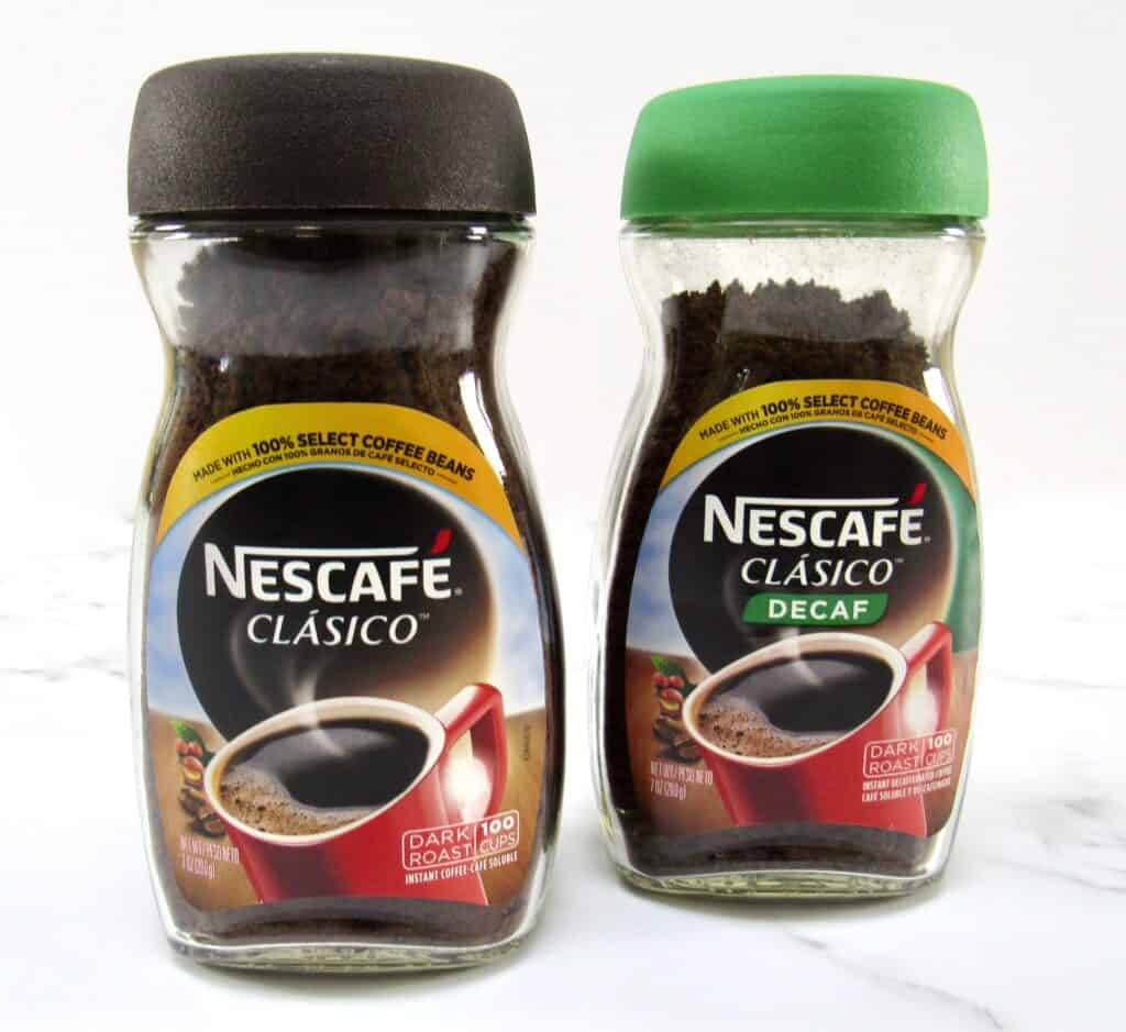 two jars of Nescafe instant coffee