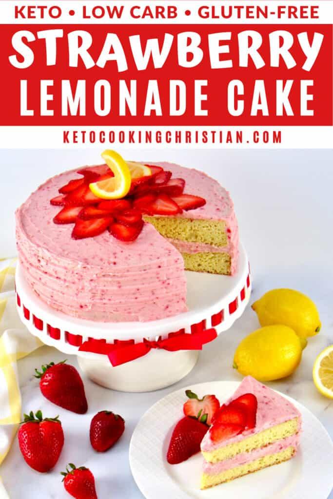 PIN Keto Strawberry Lemonade Cake