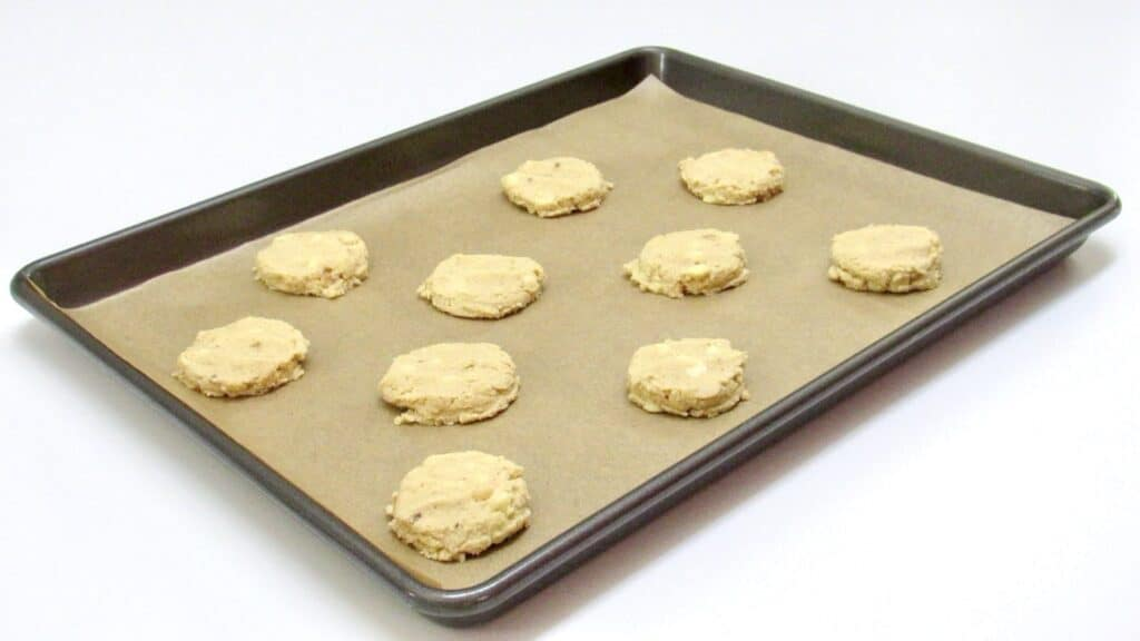 cookies on baking sheet flattened out