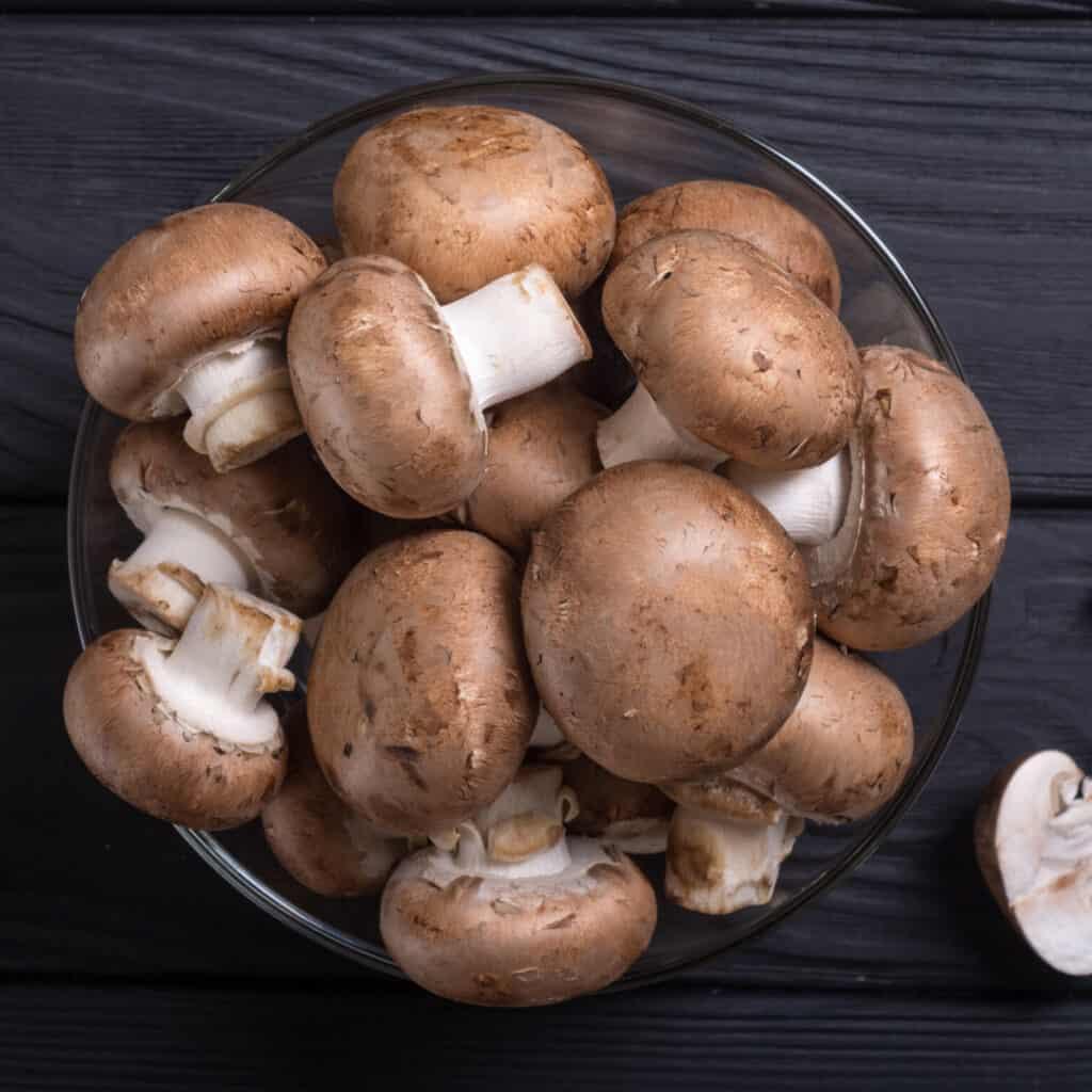 Crimini Mushrooms in bowl