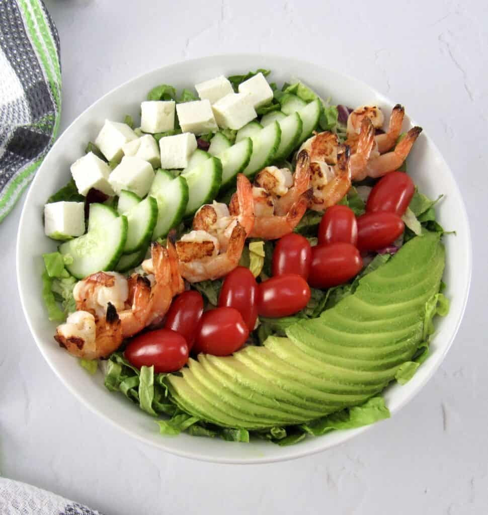 Grilled Shrimp Salad with Apricot Vinaigrette