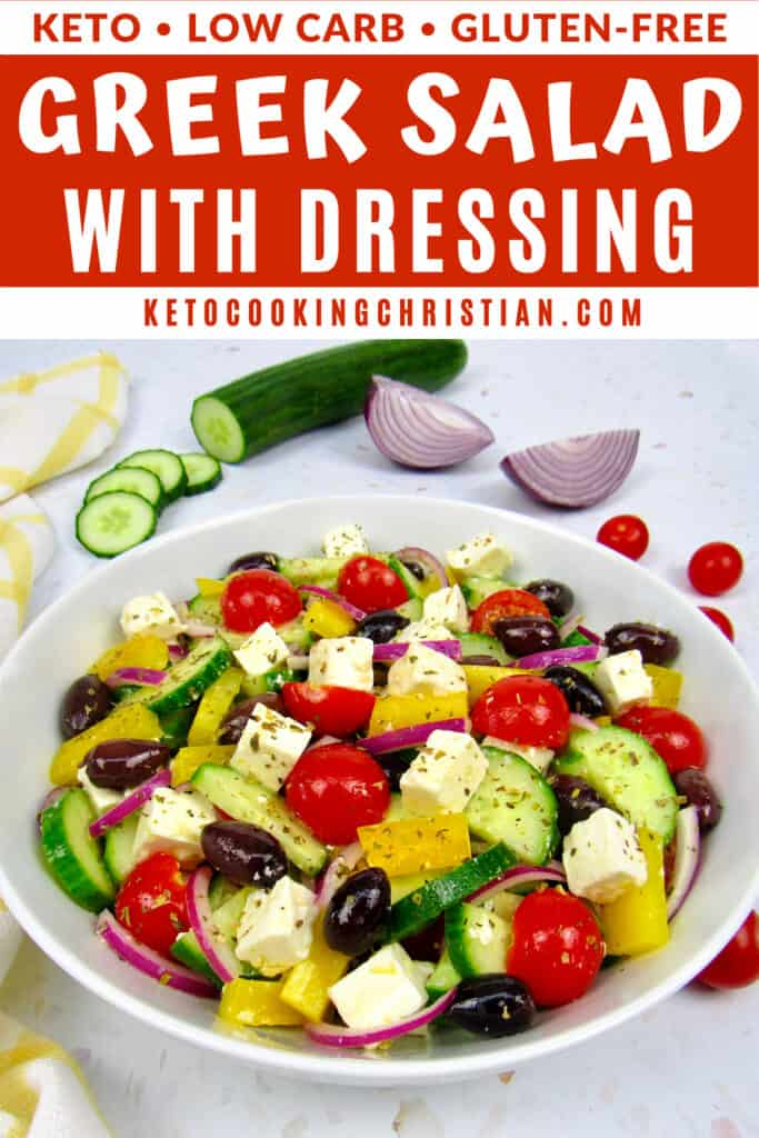PIN Keto Greek Salad and Dressing