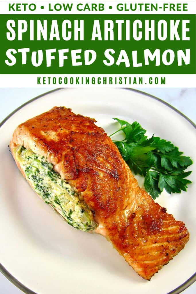 PIN Spinach Artichoke Stuffed Salmon