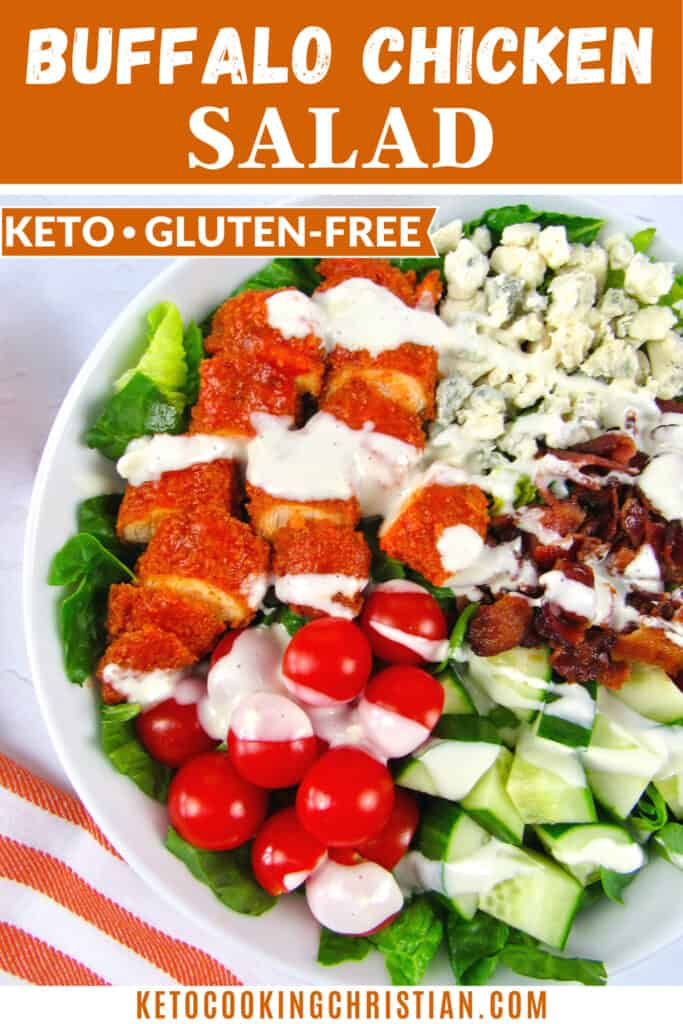 PIN Keto Buffalo Chicken Salad