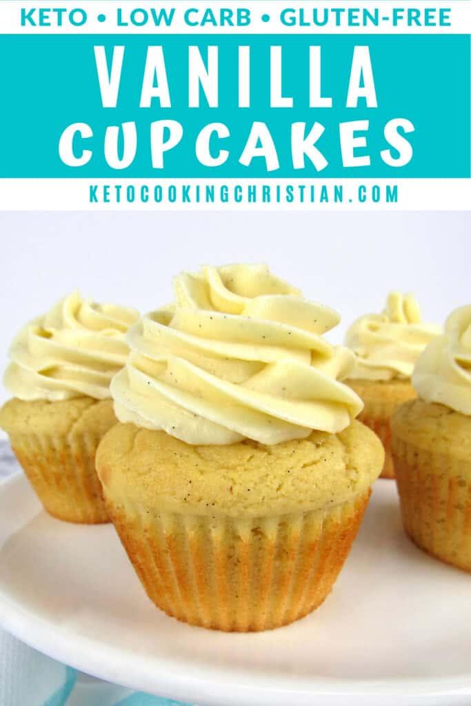 PIN Keto Vanilla Cupcakes (Gluten-Free/Sugar-Free)