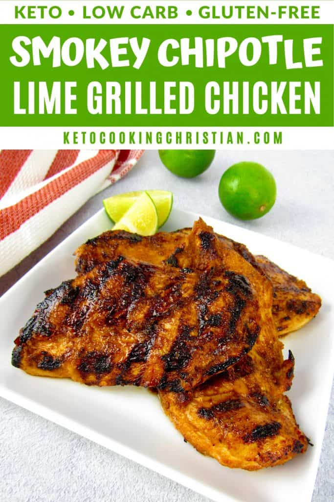 PIN Smokey Chipotle Lime Grilled Chicken - Keto