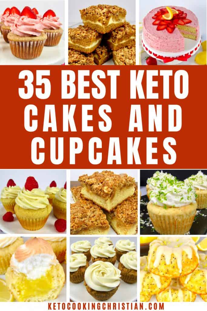 PIN 35 Best Keto Cakes and Cupcakes Recipes