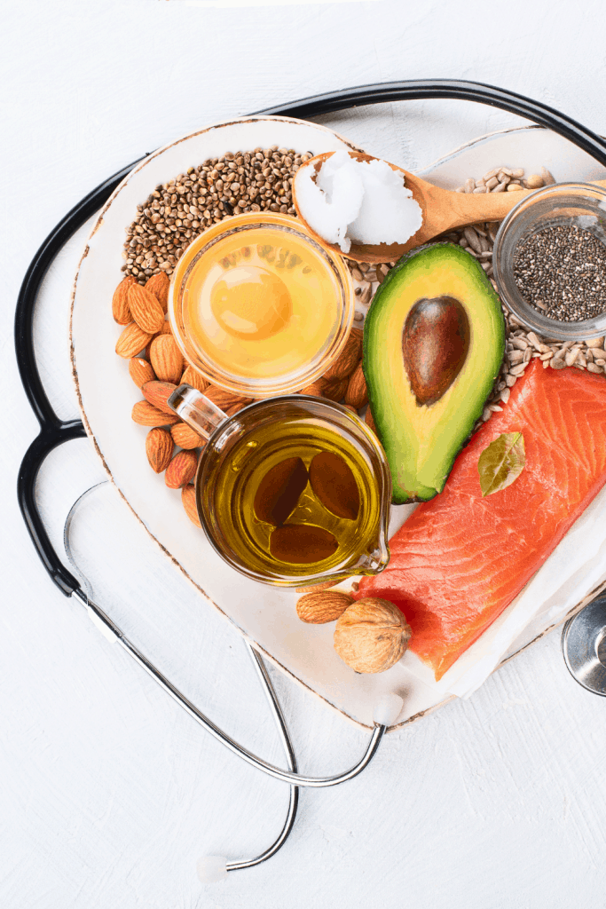 Healthy Fats for Keto with stethescope