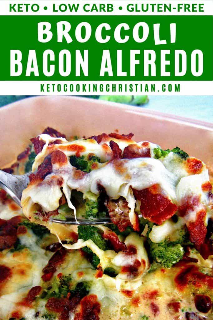 Keto Broccoli Bacon Alfredo PIN