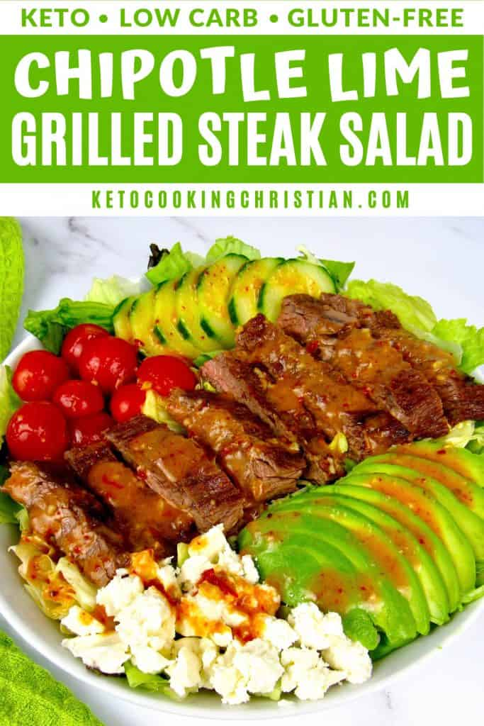 Grilled Steak Salad with Chipotle Lime Vinaigrette PIN