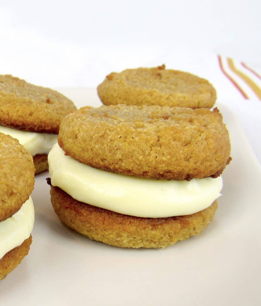 closeup of whoopie pies on plate