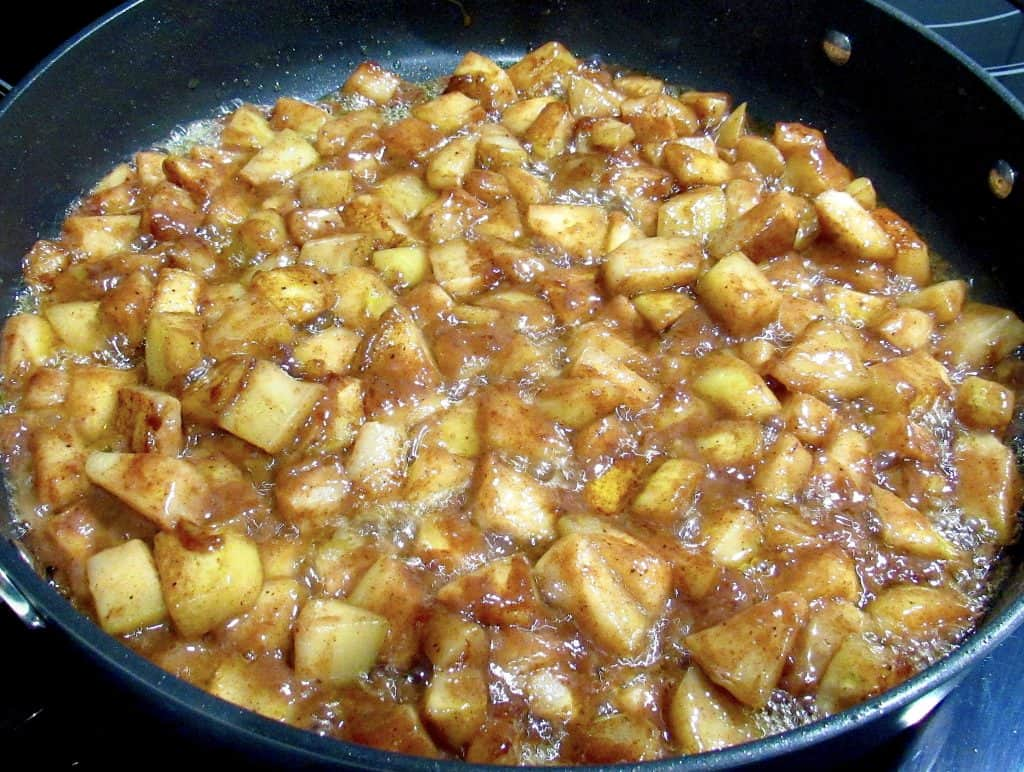 cooked chayote squash in cinnamon butter