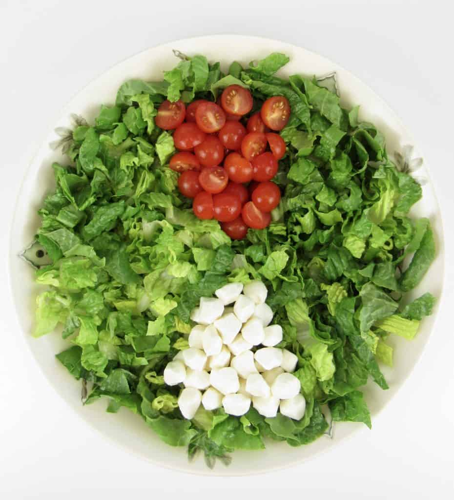 salad with tomatoes and mozzarella cheese