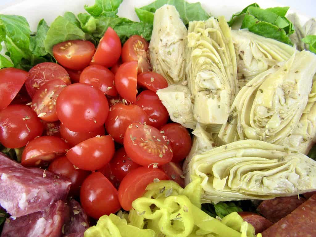 antipasto salad closeup