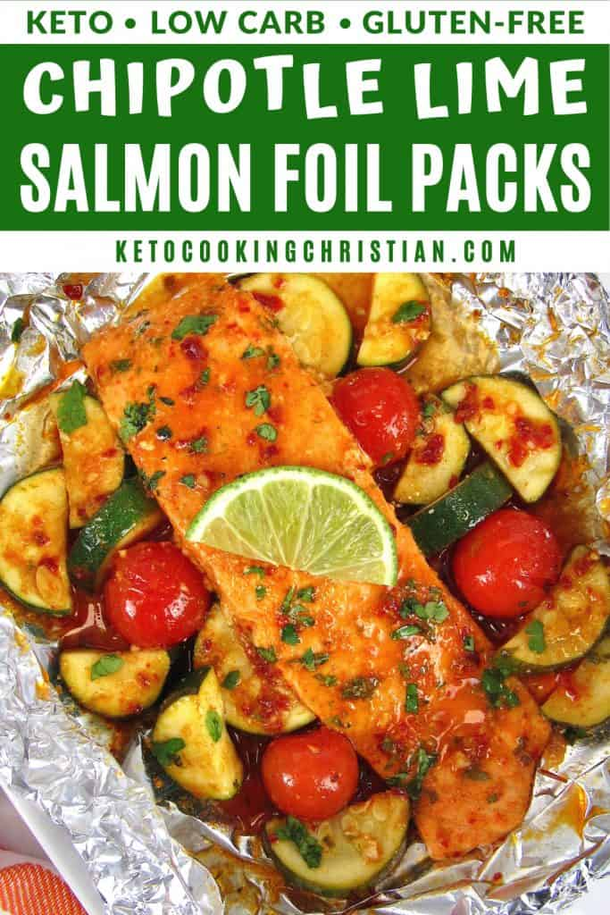 Chipotle Lime Salmon Foil Packets Pin