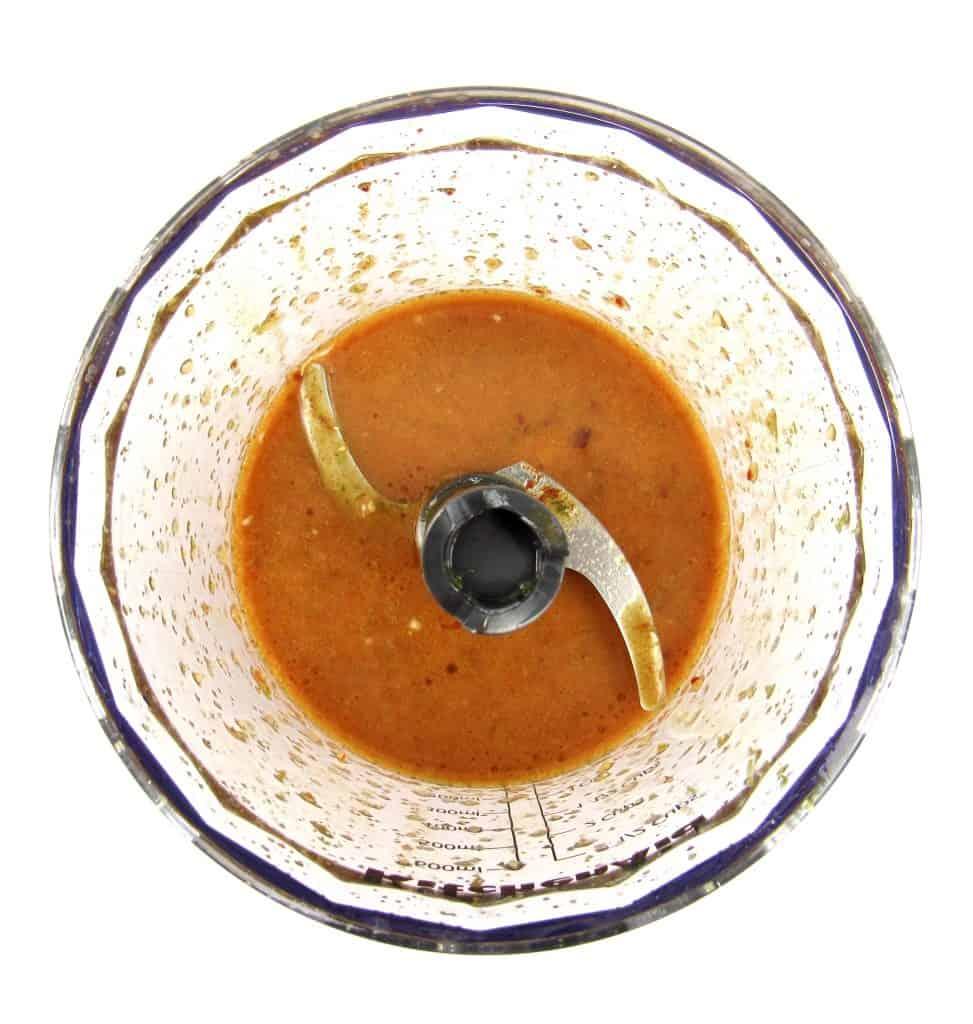 marinade in mini chopper bowl mixed