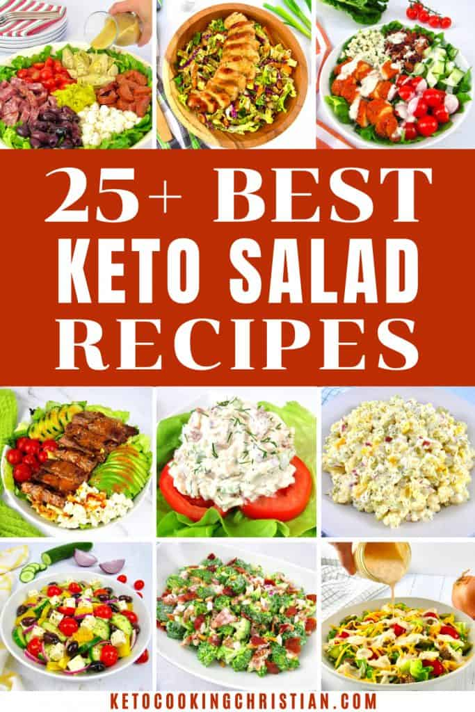 25+ Keto Salad Recipes pin