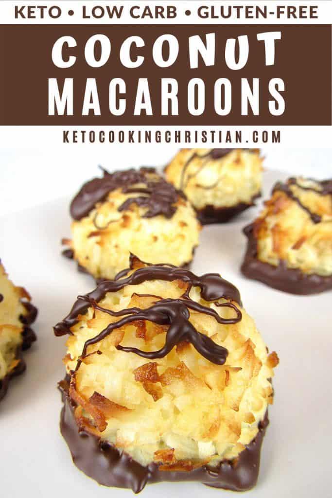 keto coconut macaroons pin
