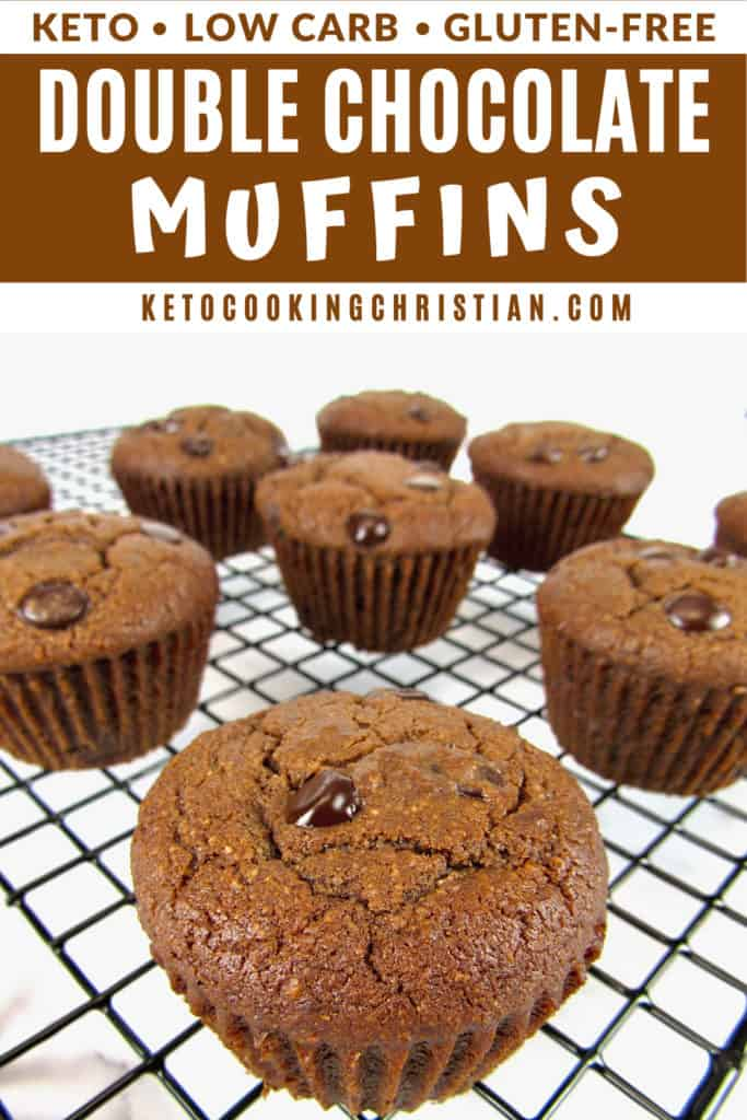 Keto double chocolate muffins pin