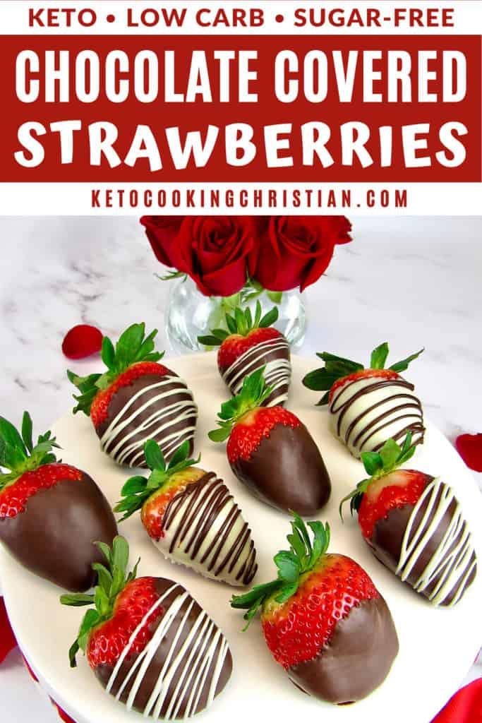 Keto Chocolate Covered Strawberries Pin