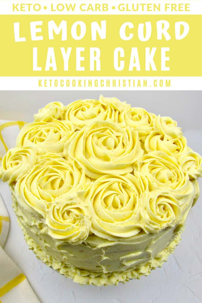 Keto Lemon Curd Layer Cake Pin