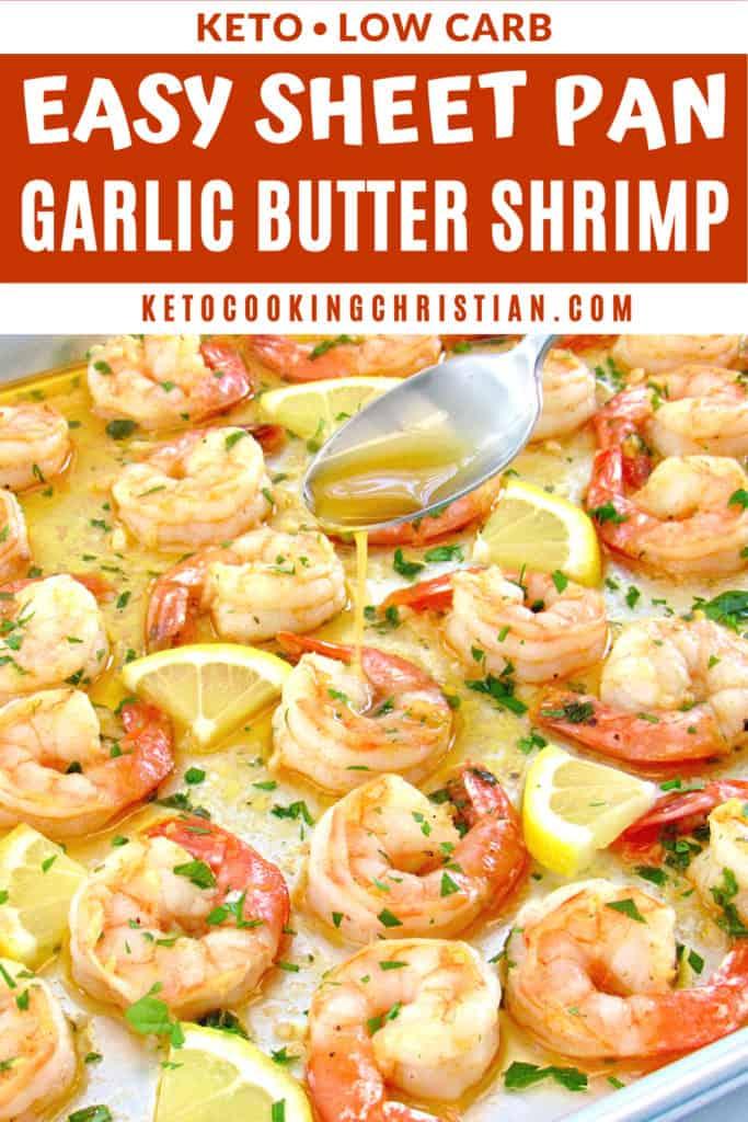 Sheet Pan Garlic Butter Shrimp pin