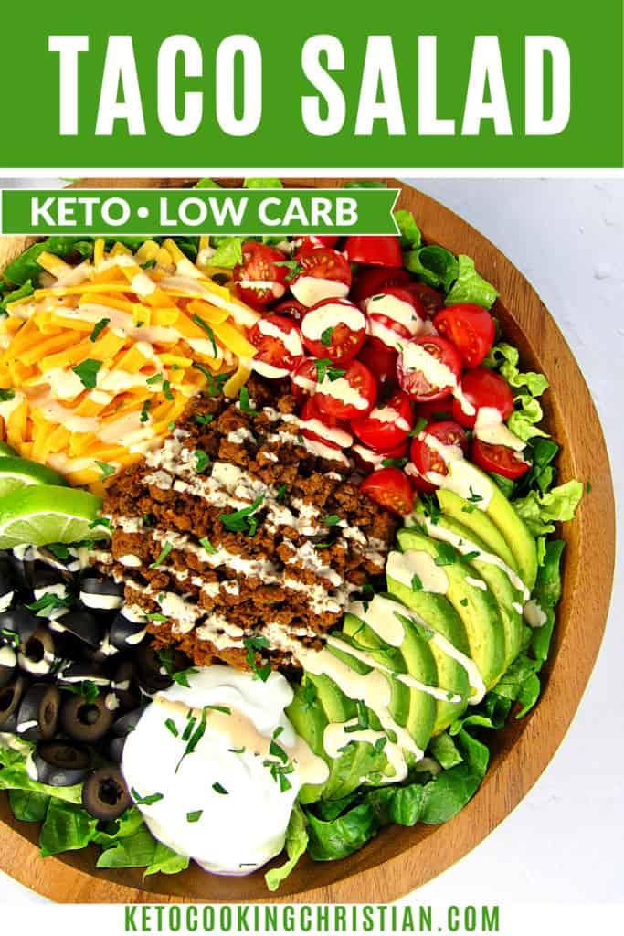 Keto Taco Salad pin