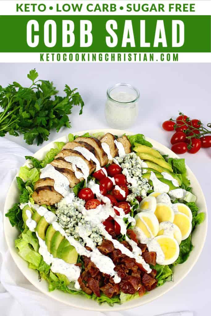 Keto Cobb Salad with Ranch Dressing PIN