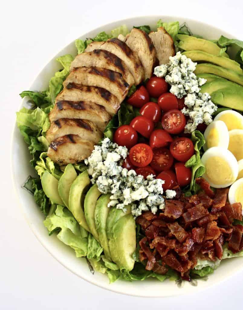 cobb salad in large bowl