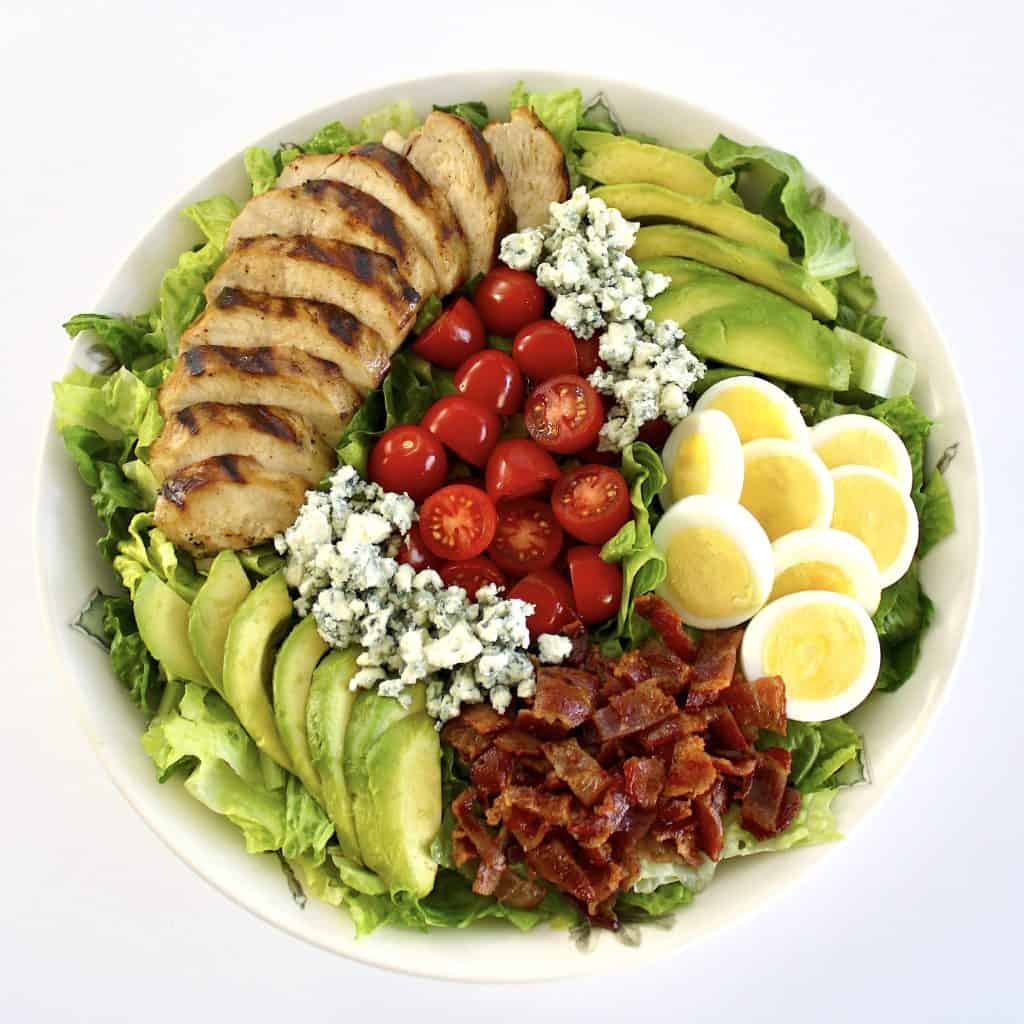 cobb salad with grilled chicken and no dressing