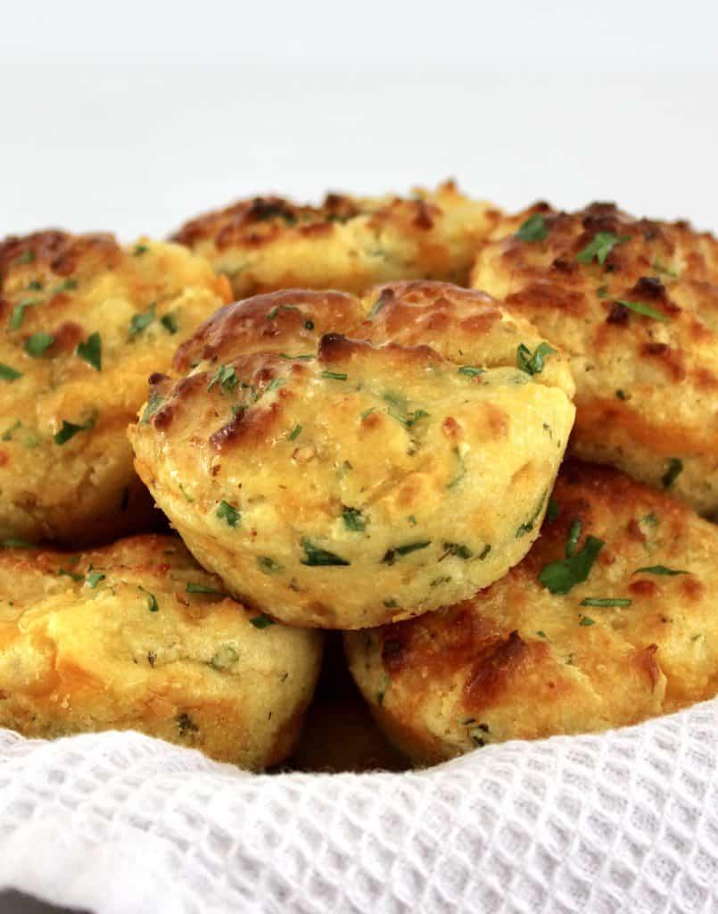 basket of Cheddar Ranch Keto Biscuits