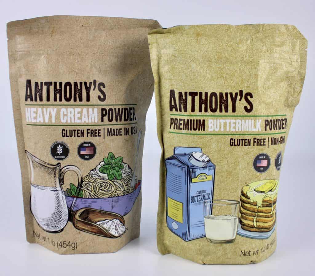 heavy cream powder and buttermilk powder in pouches