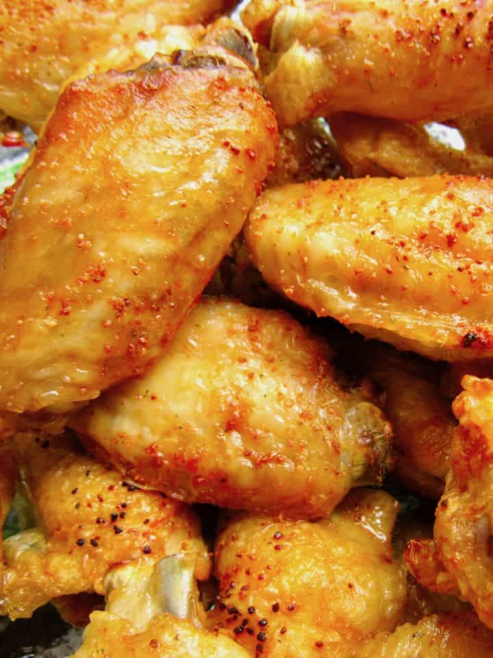 chicken wings closeup