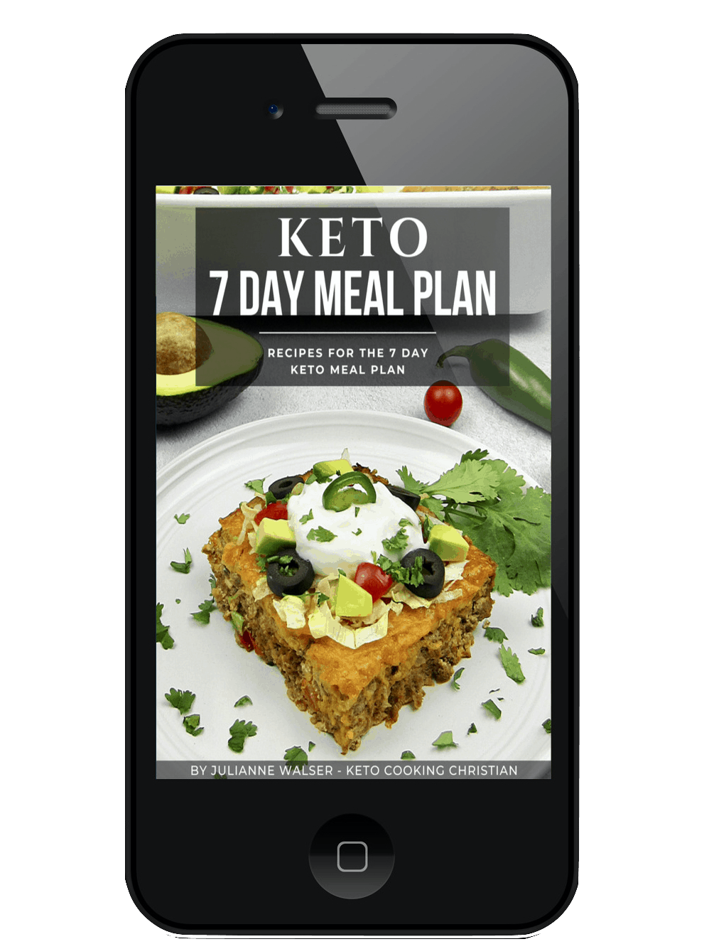Keto 7 Day Meal Plan Recipes on Mobile device