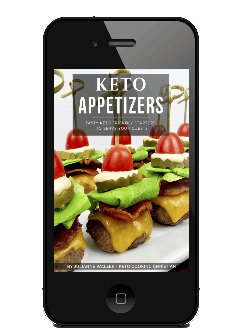 Keto Appetizers eBook on Mobile device