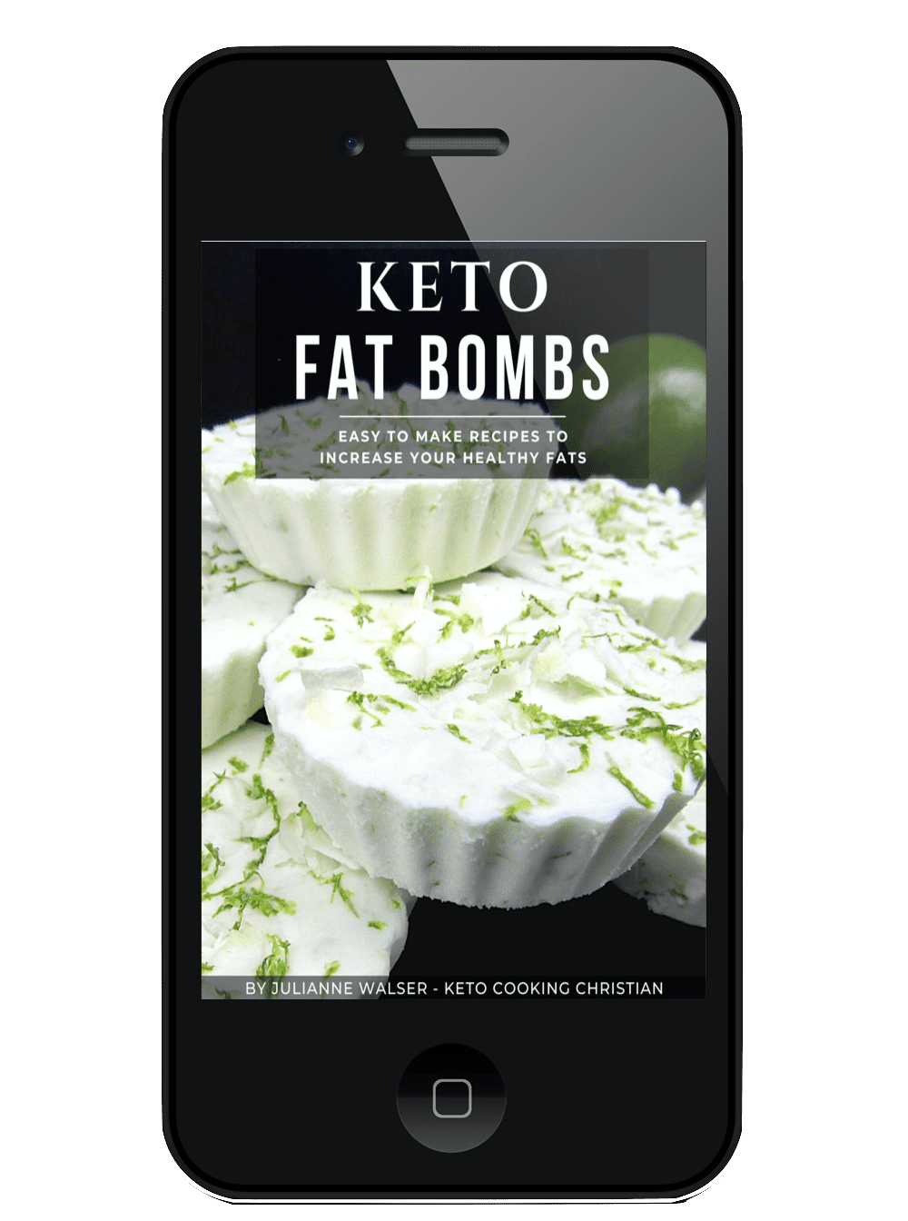 Keto Fat Bombs eBook on Mobile device