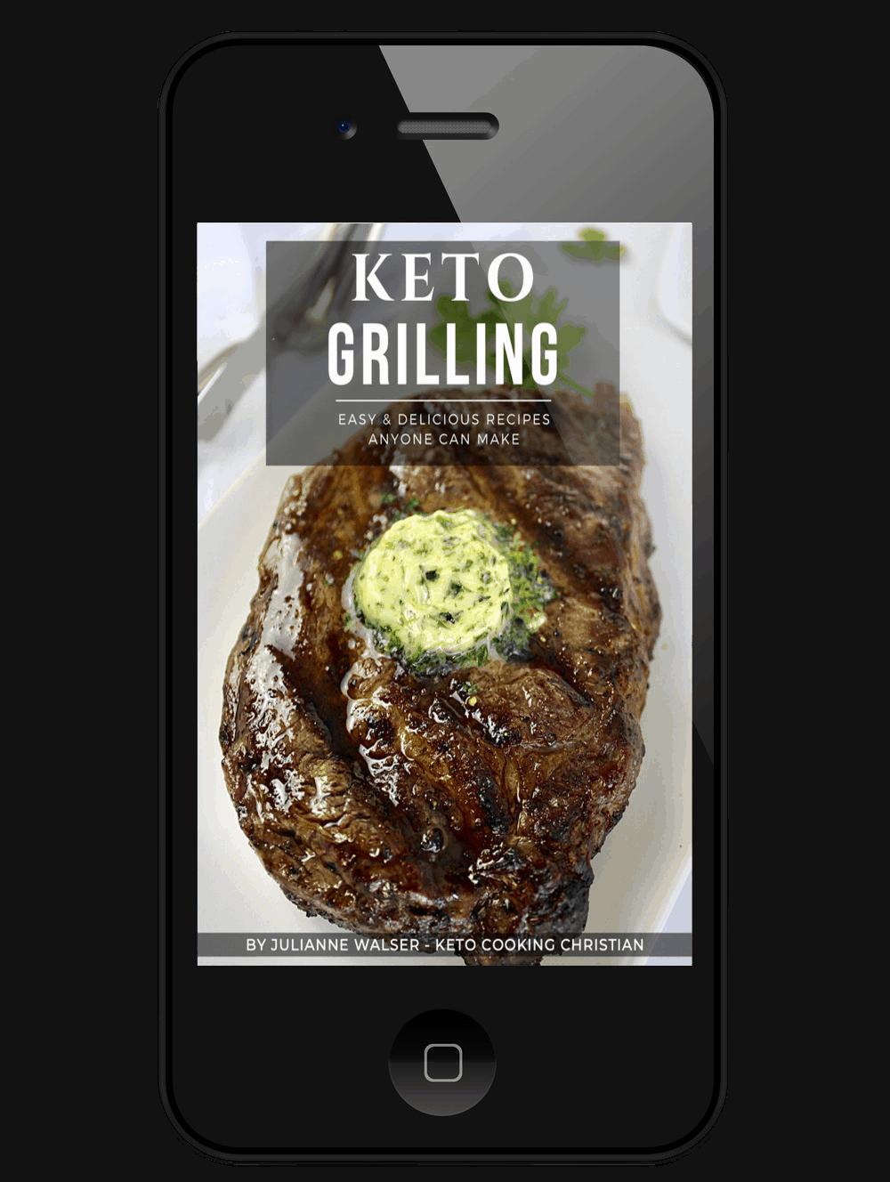 Keto Grilling eBook on mobile