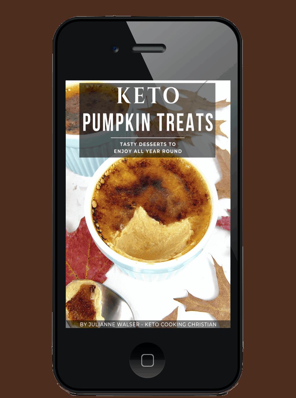Keto Pumpkin Treats eBook on Mobile device