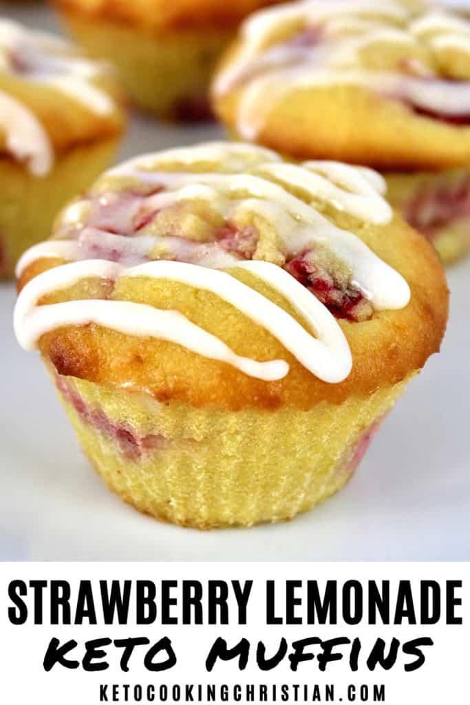 Keto Strawberry Lemonade Muffins Pin