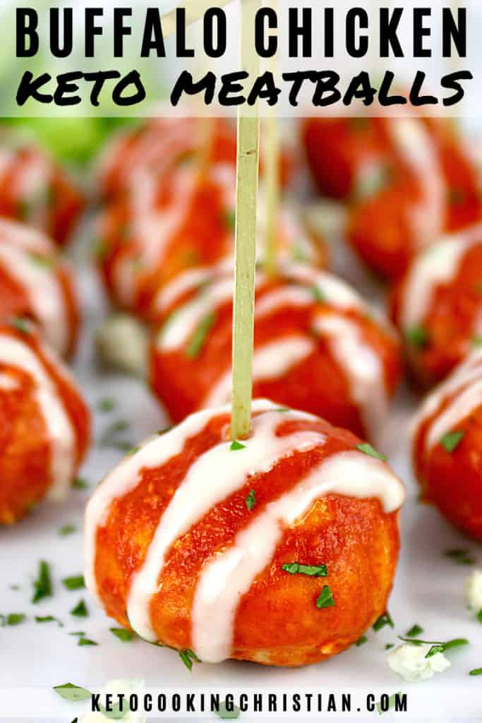 Keto Buffalo Chicken Meatballs Pin