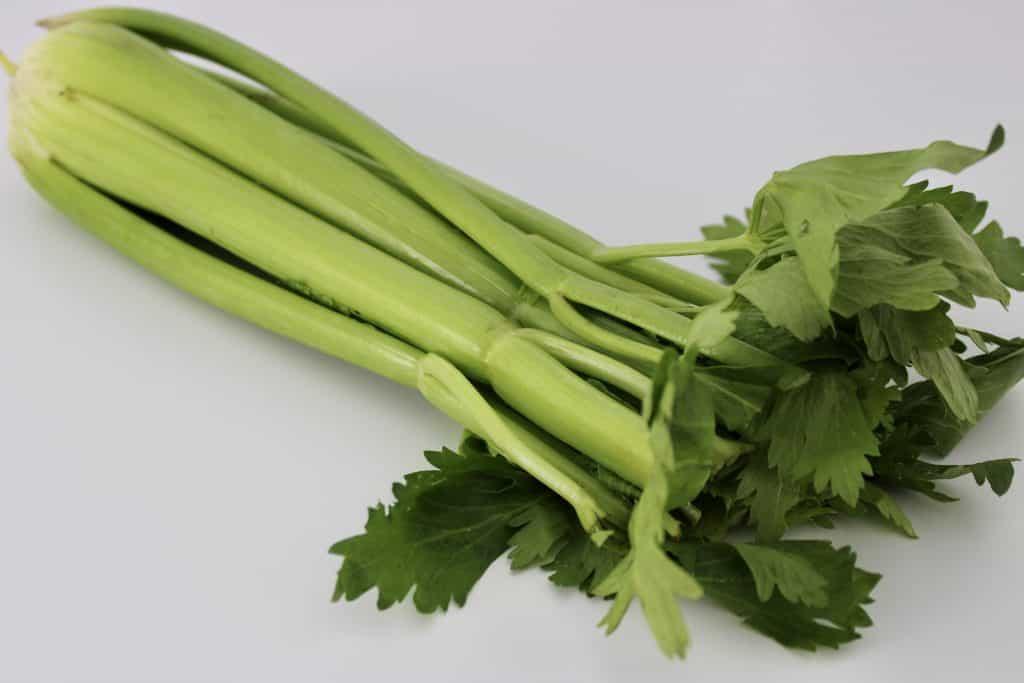 bunch of raw celery