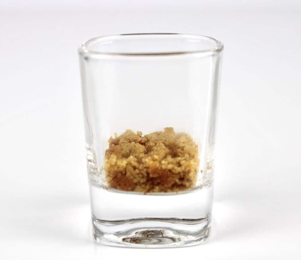 pumpkin cookie crumbled in shot glass